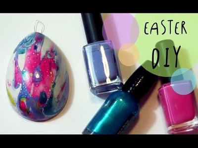 Nail Polish Water Marble EASTER EGGS decorations - DIY by ART Tv