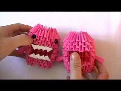 3D origami: domokun part 2