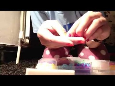 ASMR rainbow loom organiser- crinkly paper, rapping, tappin