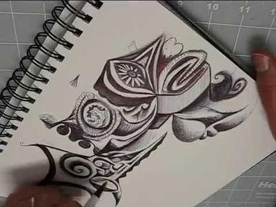 Ballpoint Pen Sketchbook Doodle