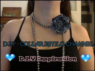 DIY: COLLAR ESTILO CHANNEL ( necklace Channel style) (Collier style Channel)