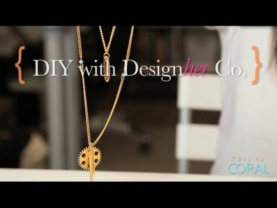 DIY Gold Statement Necklace
