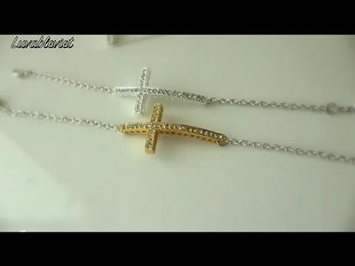 DIY| Metal sideway cross bracelet