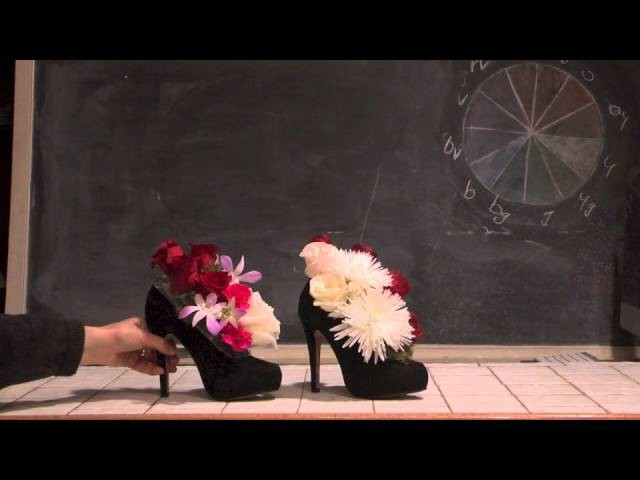 Flower Designs in Shoes