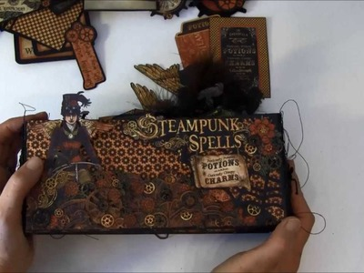 Graphic 45 Steampunk Spells envelope mini album tutorial finish album