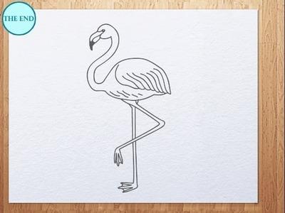How to draw flamingo