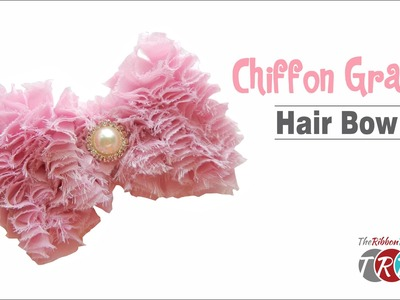 How to Make a Chiffon Grass Hair Bow - TheRibbonRetreat.com