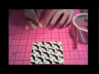 How to make a duct tape drink coaster