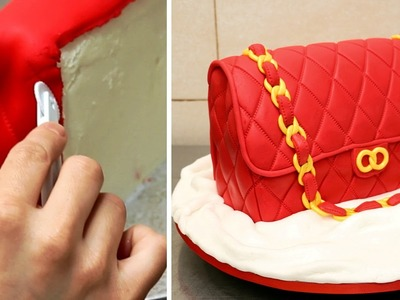 How To Make A Fashion Bag Cake by CakesStepbyStep