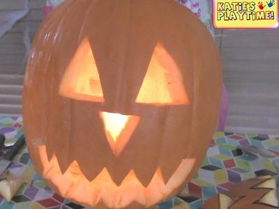 How to Make a Jack O Lantern Pumpkin Head For Halloween