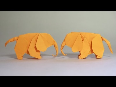 How to make an origami baby elephant (Henry Phạm)