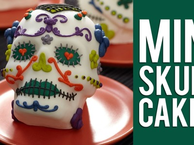 How to Make Day of the Dead Mini Skull Cakes