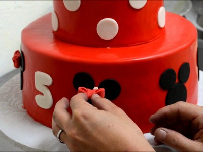 How to make decorate a Mini Mouse cake