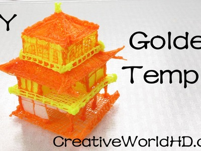 How to Make Golden Temple.Japan 3D Printing Pen Creations.Scribbler DIY Tutorial