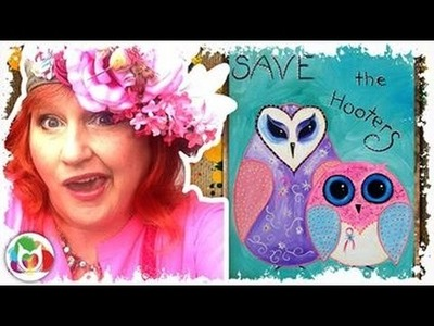 How to Paint | Adorable Owls | #thinkpinkart Breast Cancer Awareness