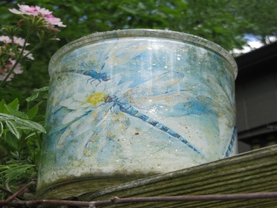 How to Reverse Decoupage Dragonflys