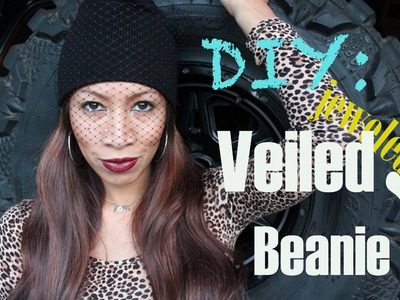 Jill Sanders inspired Veiled Beanie with jewels !