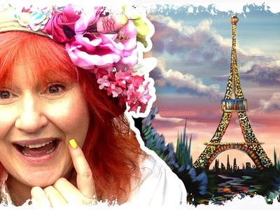 Live | How to paint | Eiffel Tower with Flowers