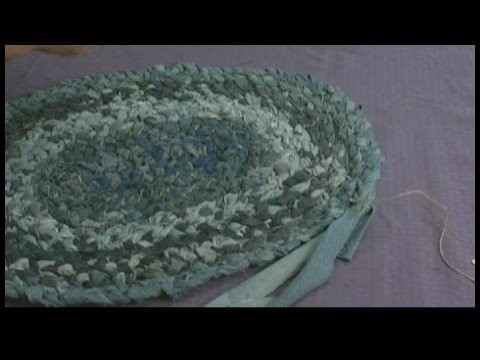 Making Area Rugs From Recycled Jeans : Braided Jeans Rug: Finishing Rug & Securing End