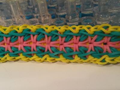 New! Gladioli Bracelet On Rainbow Loom