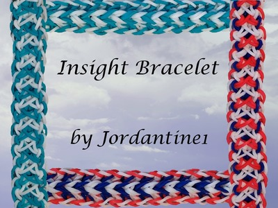 New Insight Bracelet - Monster Tail or Rainbow Loom - Reversible