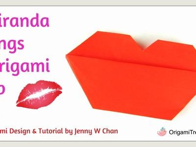 Origami Lip - Miranda Sings Inspired Paper Craft
