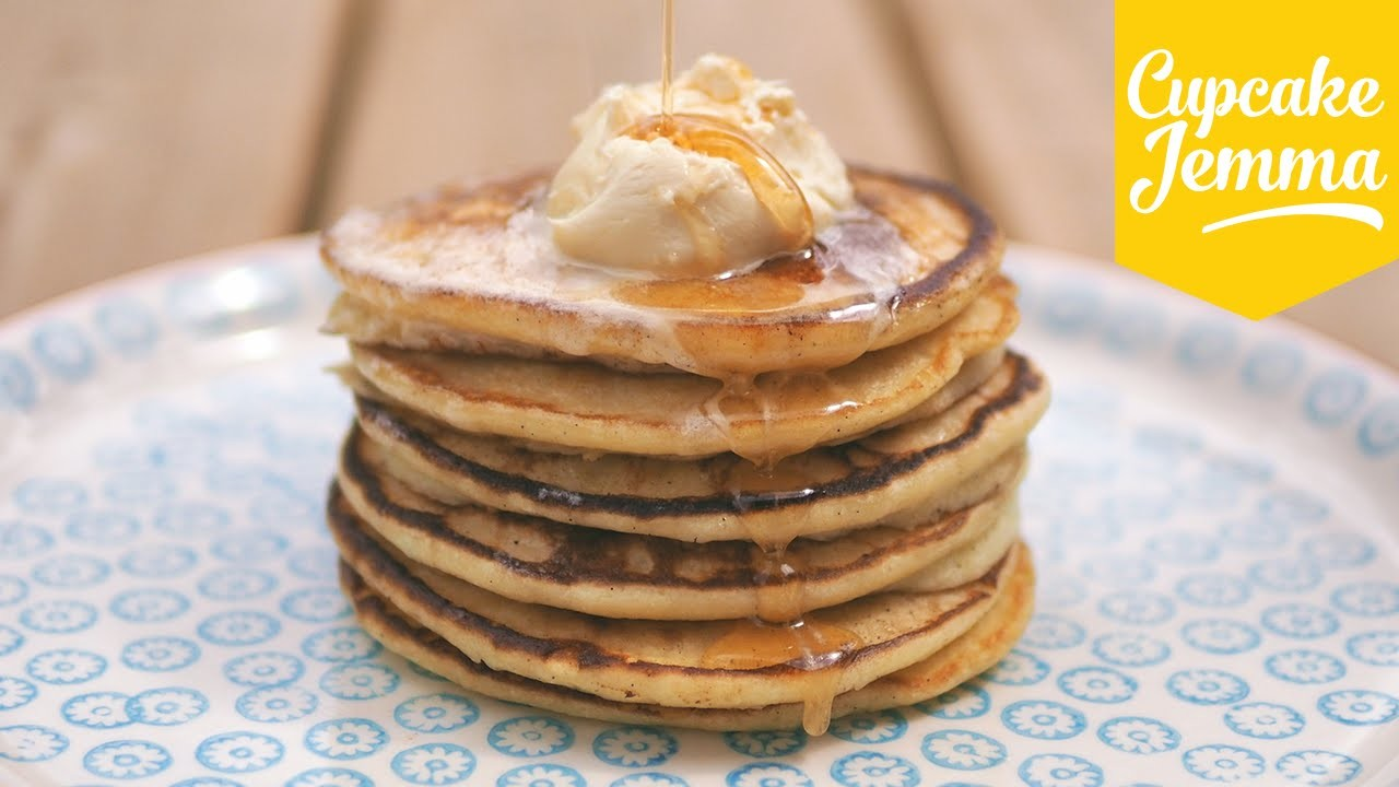 Pancake recipe! How to make Fluffy Ricotta Hotcakes | Cupcake Jemma