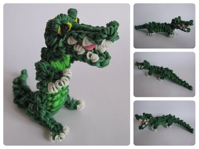 Rainbow Loom crocodile Part 2.2 Loombicious
