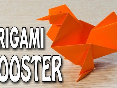 Rooster Origami: paper hen(cock) folding instruction : simple and easy