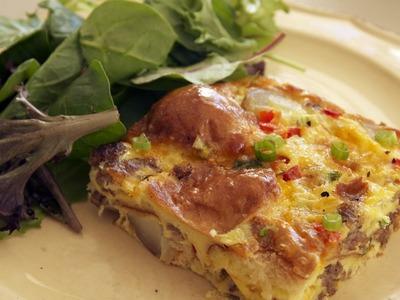 Sausage & Egg Breakfast Casserole Recipe    KIN EATS