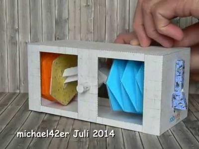 Twin Bellows Crank Box, paper model