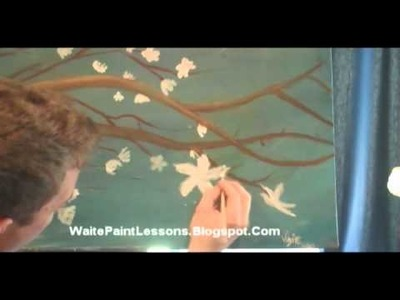 WaitePaintLesson - How To Paint A Cherry Blossom - Oil and Acrylic