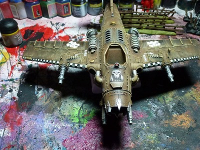 Warhammer 40K Tutorial - Ork Dakkajet bemalen. painting Orc dakkajet - part three - ABZIEHBILDER
