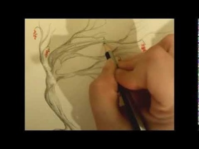 ASMR Binaural Sketching and Whispering - Pencil and paper sounds - Dryad