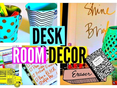 Back To School: Desk Room Decor, Desk Tour & Organization