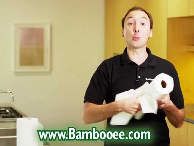Bambooee Reusable Paper Towel Roll Commercial - Ditch Paper Towels Today