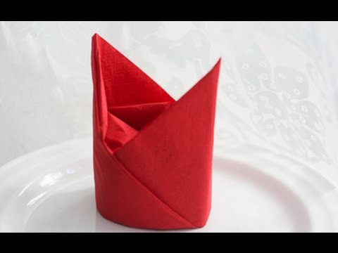 BISHOP CAP Folding napkins How to fold paper napkins How to fold napkins