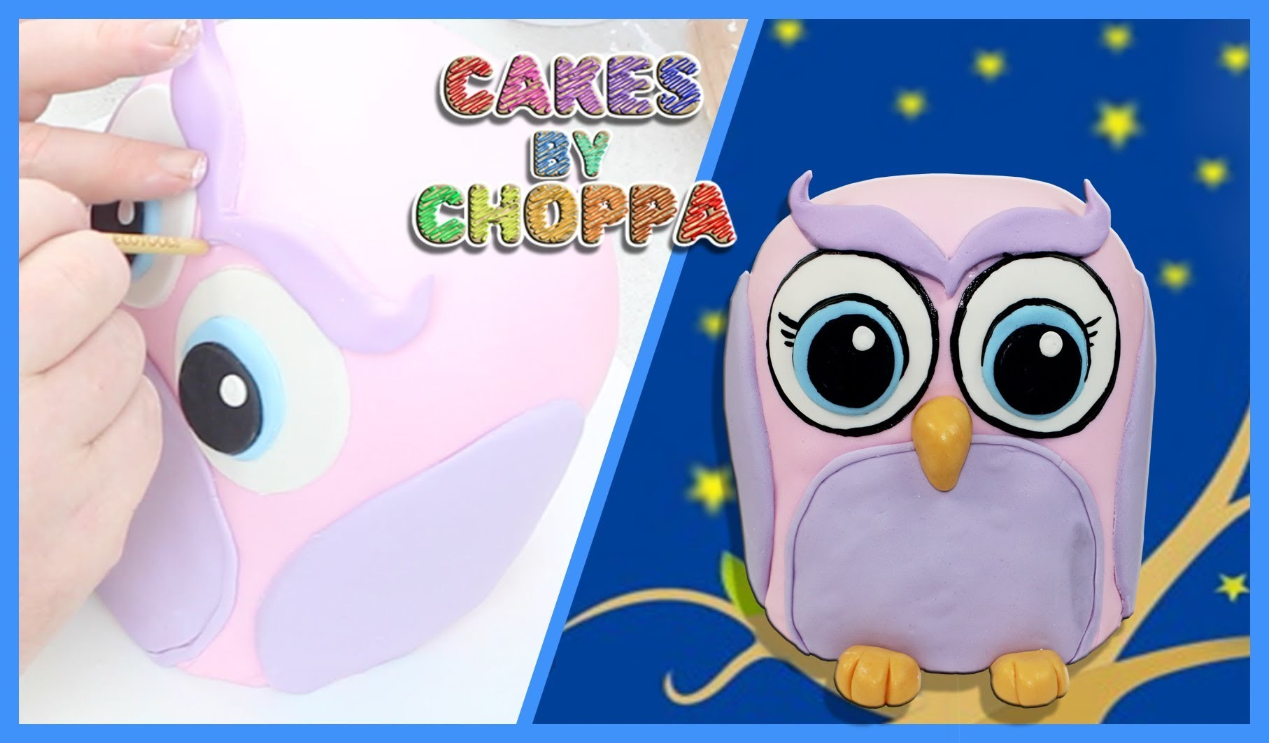 Cute Baby Owl Cake (How To)