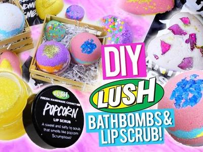 DIY LUSH Bath Bombs & Popcorn Lip Scrub