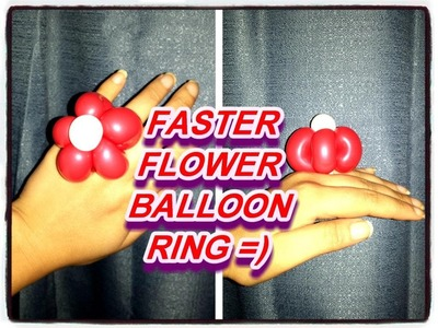 FASTER BALLOON RING! HOW TO FLOWER BALLOON RING UPDATE! - Balloon Animal