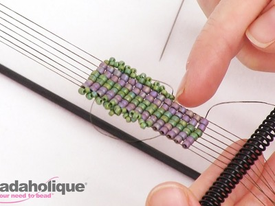 How to Add a Beaded Edge to Loom Work