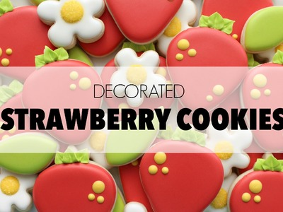 How to Decorate Strawberry Cookies