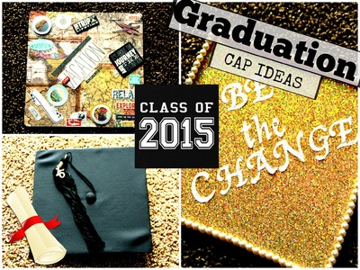 How To: Decorate Your Graduation Cap. Easy (Pinterest Inspired) || HeythereLaurin