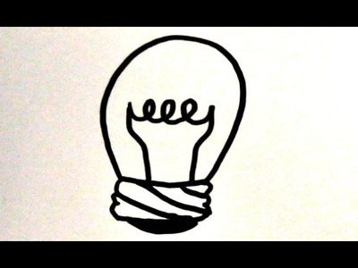 How to Draw a Cartoon Light Bulb