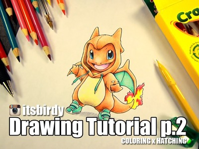 How to Draw Charmander in a Charizard onesie ( Crayola Drawing Tutorial p.2 )