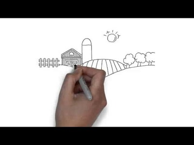 How to draw Country Farm