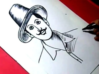 How to Draw SHAHID BHAGAT SINGH DRAWING step by step for KIDS