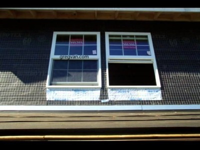 How To Install Window Flashing Paper - Home Building and Remodeling Instructions