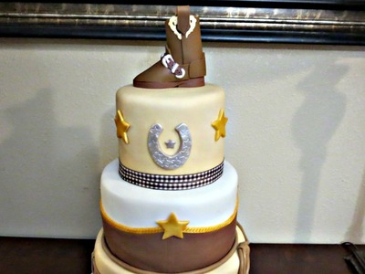 How to Make a Fondant Cowboy Boot Topper
