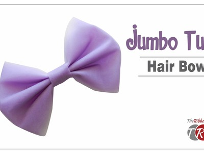 How to make a Jumbo Tulle Hair Bow - TheRibbonRetreat.com
